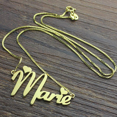 5ca3b0fee1df2 Personalised Nameplate Necklace for Girls Gold Plated