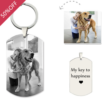 925 Sterling Silver Pet Photo Engraved Dog Tag - The Name Jewellery™