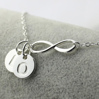 Custom Infinity Initial Necklace,Sister Necklace,Friend Necklace - The Name Jewellery™