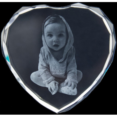 Photo Engraved Crystals In Custom Made Shapes - The Name Jewellery™