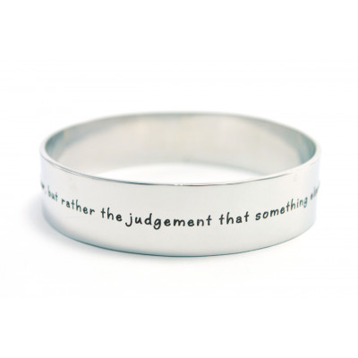 Personalised 15mm Wide Endless Bangle - Silver - The Name Jewellery™