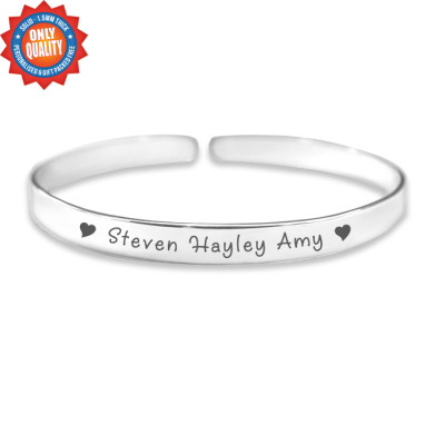 Personalised 8mm Endless Bangle - 925 Sterling Silver - The Name Jewellery™