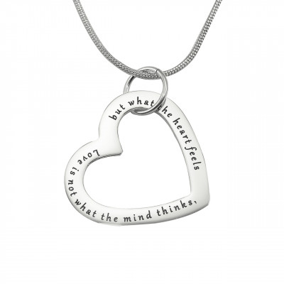 Personalised Always in My Heart Necklace - Sterling Silver - The Name Jewellery™