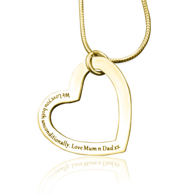 Personalised Always in My Heart Necklace - 18ct Gold Plated - The Name Jewellery™