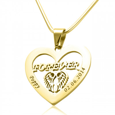 Personalised Angel in My Heart Necklace - 18ct Gold Plated - The Name Jewellery™