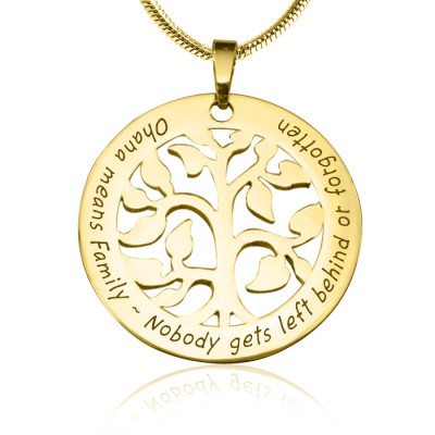 Personalised Ohana Tree - 18ct Gold Plated *Limited Edition - The Name Jewellery™