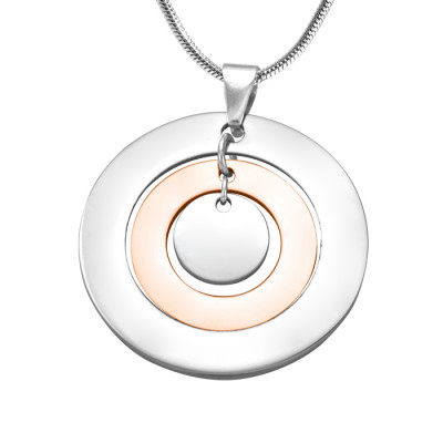Personalised Circles of Love Necklace - TWO TONE - Rose Gold  Silver - The Name Jewellery™