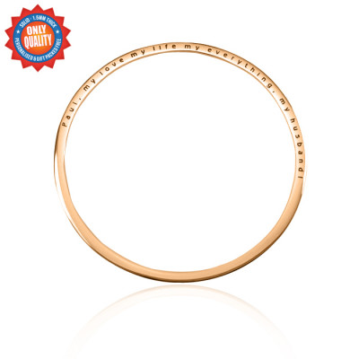 Personalised Classic Bangle - 18ct Rose Gold Plated - The Name Jewellery™