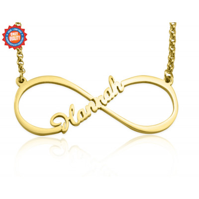 Personalised Single Infinity Name Necklace - 18ct Gold Plated - The Name Jewellery™