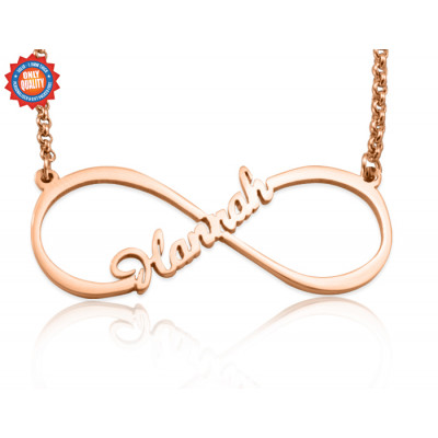 Personalised Single Infinity Name Necklace - 18ct Rose Gold Plated - The Name Jewellery™