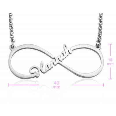 Personalised Single Infinity Name Necklace - Sterling Silver - The Name Jewellery™
