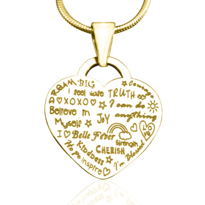 Personalised Heart of Hope Necklace - 18ct Gold Plated - The Name Jewellery™