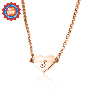 Personalised Precious Heart - 18ct Rose Gold Plated - The Name Jewellery™