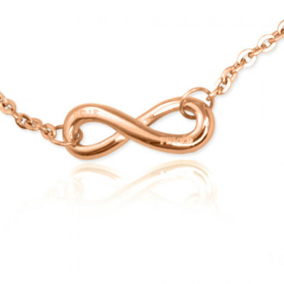Personalised Classic  Infinity Bracelet/Anklet - 18ct Rose Gold Plated - The Name Jewellery™