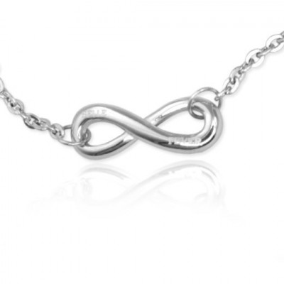 Personalised Classic  Infinity Bracelet/Anklet - Sterling Silver - The Name Jewellery™