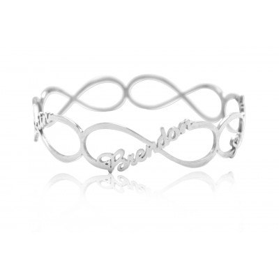 Personalised Endless Single Infinity Bangle - The Name Jewellery™