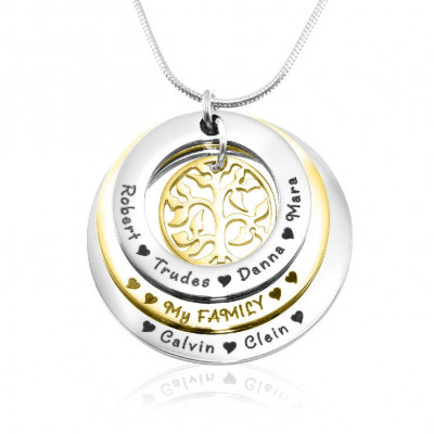 Personalised Family Triple Love - Two Tone - Gold n Silver - The Name Jewellery™