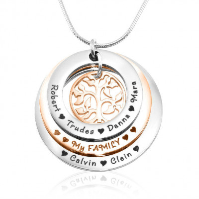 Personalised Family Triple Love - Two Tone - Rose Gold n Silver - The Name Jewellery™