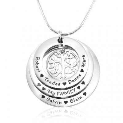 Personalised Family Triple Love - Sterling Silver - The Name Jewellery™