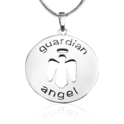 Personalised Guardian Angel Necklace 1 - Sterling Silver - The Name Jewellery™