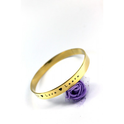 Personalised 8mm Endless Bangle - 18ct Gold Plated - The Name Jewellery™
