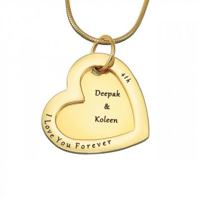 Personalised Love Forever Necklace - 18ct Gold Plated - The Name Jewellery™
