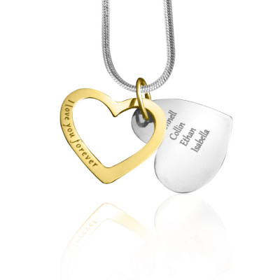 Personalised Love Forever Necklace - Two Tone - Gold  Silver - The Name Jewellery™