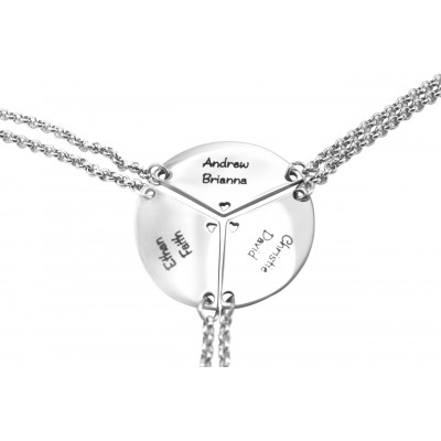 Personalised Meet at the Heart Triple - Three Personalised Necklaces - The Name Jewellery™