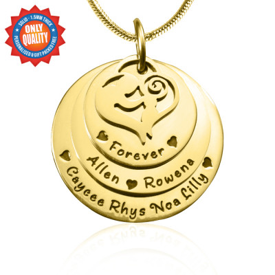 Personalised Mother's Disc Triple Necklace - 18ct Gold Plated - The Name Jewellery™