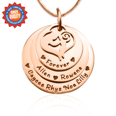 Personalised Mother's Disc Triple Necklace - 18ct Rose Gold Plated - The Name Jewellery™