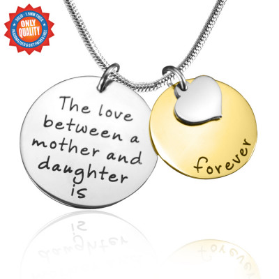 Personalised Mother Forever Necklace - Two Tone - Gold  Silver - The Name Jewellery™