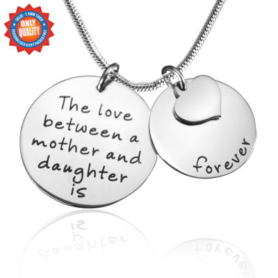 Personalised Mother Forever Necklace - Silver - The Name Jewellery™