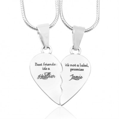 Personalised My Bestie Two Personalised Sterling Silver Necklaces - The Name Jewellery™