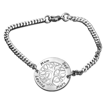 Personalised NN Vertical silver Bracelet/Anklet - The Name Jewellery™
