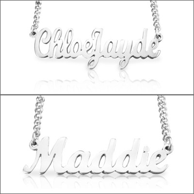 Personalised Name Necklace - Sterling Silver - The Name Jewellery™