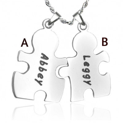 Personalised Puzzle Necklace - Sterling Silver - The Name Jewellery™