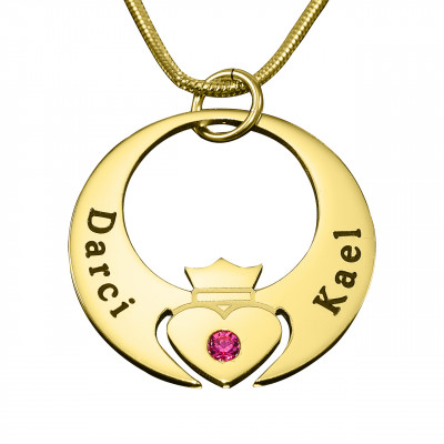 Personalised Queen of My Heart Necklace - 18ct Gold Plated - The Name Jewellery™