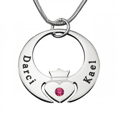Personalised Queen of My Heart Necklace - Sterling Silver - The Name Jewellery™