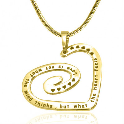 Personalised Swirls of My Heart Necklace - 18ct Gold Plated - The Name Jewellery™