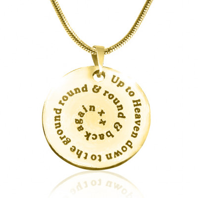 Personalised Swirls of Time Disc Necklace - 18ct Gold Plated - The Name Jewellery™