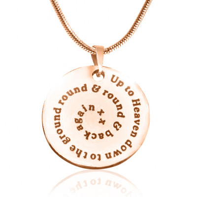 Personalised Swirls of Time Disc Necklace - 18ct Rose Gold Plated - The Name Jewellery™