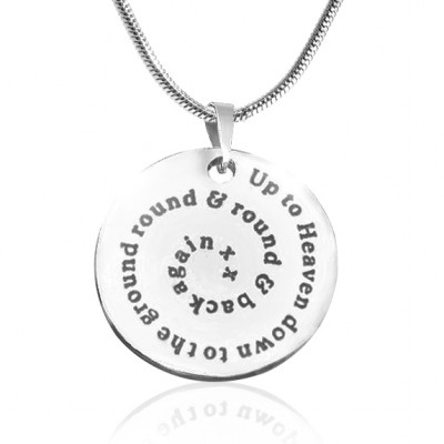 Personalised Swirls of Time Disc Necklace - Sterling Silver - The Name Jewellery™