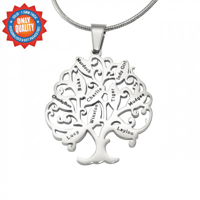 Personalised Tree of My Life Necklace 10 - Sterling Silver - The Name Jewellery™