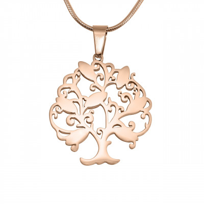 Personalised Tree of My Life Necklace 7 - 18ct Rose Gold Plated - The Name Jewellery™