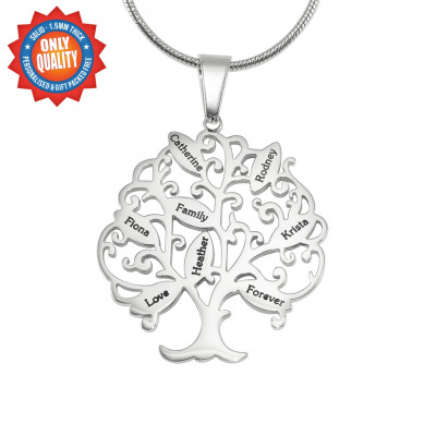 Personalised Tree of My Life Necklace 8 - Sterling Silver - The Name Jewellery™