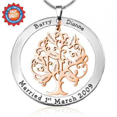 Personalised Tree of My Life Washer 8 - Two Tone - Rose Gold Tree - The Name Jewellery™