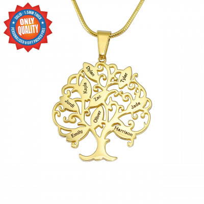 Personalised Tree of My Life Necklace 9 - 18ct Gold Plated - The Name Jewellery™