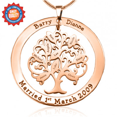 Personalised Tree of My Life Washer 9 - 18ct Rose Gold Plated - The Name Jewellery™