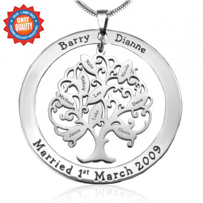 Personalised Tree of My Life Washer 9 - Sterling Silver - The Name Jewellery™