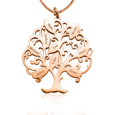 Personalised Tree of My Life Necklace 9 - 18ct Rose Gold Plated - The Name Jewellery™